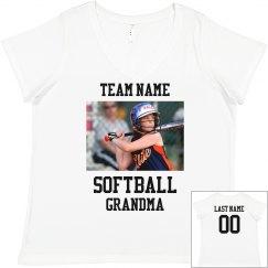 Upload Your Photo Softball Grandma