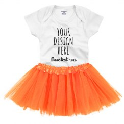Custom Orange Baby's Tutu