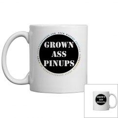 GROWN ASS PINUPS OFFICIAL BADGE MUG