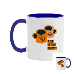 A Cup of Code Podcast Double-sided Logo 11 oz Mug