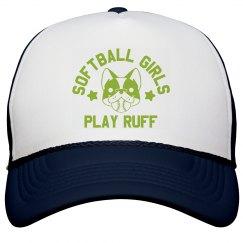 Softball Pups Play Ruff
