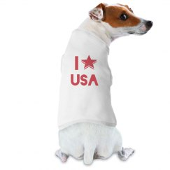 I Love The USA Dog T