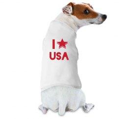 I Love The USA Dog T