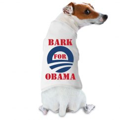 Bark for Obama Dog Tee