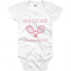 Cute Custom Tennis Baby Girl