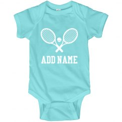 Custom Baby Name Tennis Bodysuit