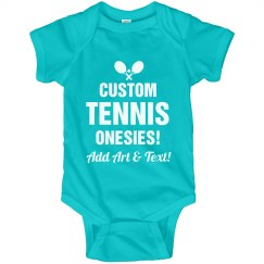 Personalized Baby Tennis Onesies