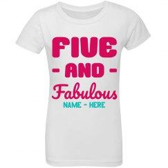 Five & Fabulous Birthday Tee