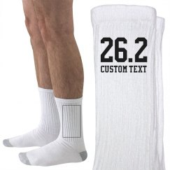 Custom Marathon Runner Socks