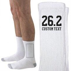 Custom Marathon Runner Socks
