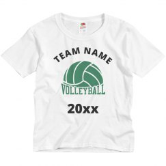 Children Volleyball Team Custom White T-Shirt
