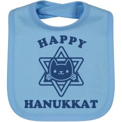 Cute Hanukkah Cat Bib