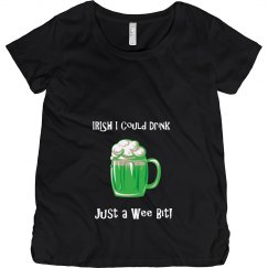 Irish I Could Drink Maternity St Patricks Day T Shirt