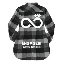 Custom Engaged Wifey Flannel