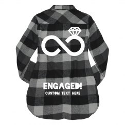 Custom Engaged Wifey Flannel