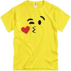 Kissy Face Emoji Costume Left 2