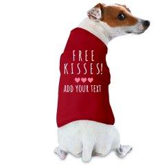 Free Kisses Doggie Tank