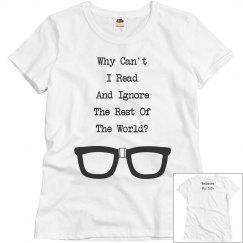 Bookworm For Life shirt