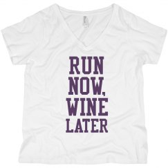 Run Now, Wine Later Plus V-Neck