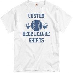 Custom Beer League Softball Shirts
