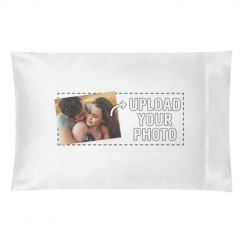 Custom Printed Photo & Text Pillow Case