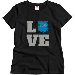Police Love with Badge Number