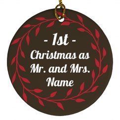 Our first Christmas As Mr & Mrs