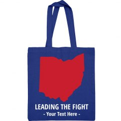 Custom Leading The Fight Ohio Tote
