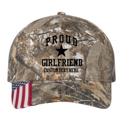 Proud Army Girlfriend Custom Camo Hat