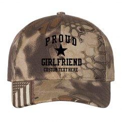 Proud Army Girlfriend Custom Camo Hat