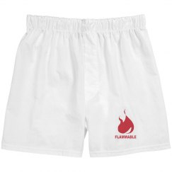 Flammable boxer shorts