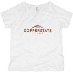 Copperstate Women's Curvy Plus Size V-neck Tee