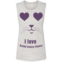 I love Bastet Dance Fitness - Muscle Tank