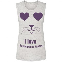 I love Bastet Dance Fitness - Muscle Tank