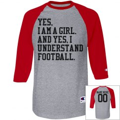 Uh, Yes, This Girl Understands Football Funny Jersey