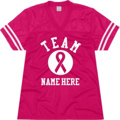 Custom Team Breast Cancer Jersey
