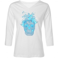 Blue Fire Skull Shirt