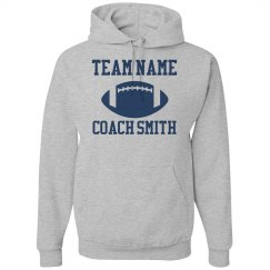 Custom Team & Coach Name Football