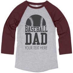 Custom Text Baseball Dad Tees