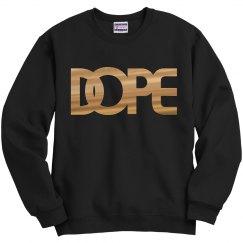 Gold metallic DOPE logo