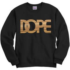 Gold metallic DOPE logo