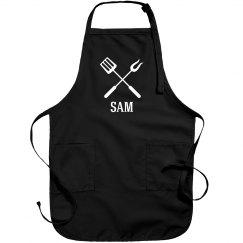 Sam personalized apron