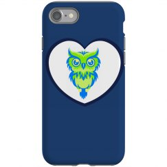 Distressed Owl iPhone
