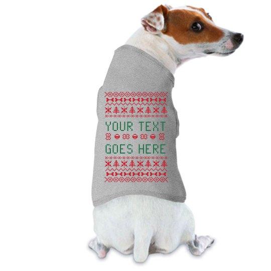 Christmas Sweaters For Dogs.Custom Dog Ugly Christmas Sweater