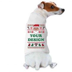 Custom Text Dog Christmas Sweater