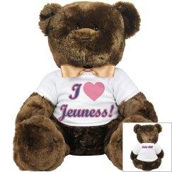 I Love Jeuness Teddy Bear