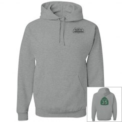 Hwy 35 Hoodie -green ink on back
