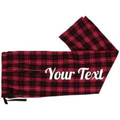 Custom Text Family Pajama Sets