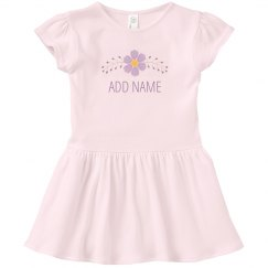 Custom Kids Name With Flower