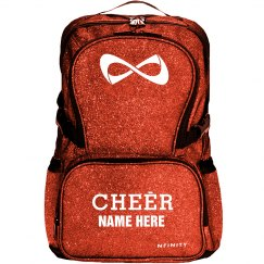 Red Glitter Custom Cheer Logo